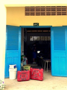 "Figure 3. We deployed the ""Lab in a Suitcase"" in a rural primary school in Cambodia."