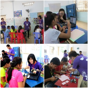 Figure 3. We conducted a 4-day robotic workshop in Happyland Orphanage.